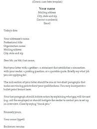 Examples Of Cover Letters For A Resume Free Resume Cover Letter
