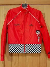 rare vintage adidas adicolor red betty boop jacket excellent condition uk10