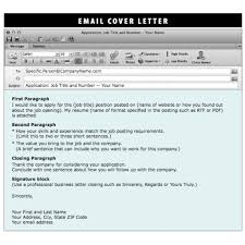 Sending Resume And Cover Letter By Email 65 Images Cover