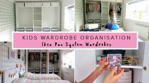 kids wardrobe organisation ikea pax system wardrobes