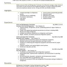 Mechanic Resume Template Hvac Mechanic Resume Templates Pdf Format Air Conditioning With 63