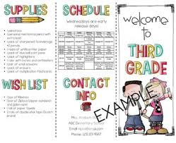 Teacher Brochure Example Back To School Night Meet The Teacher Template Editable Open
