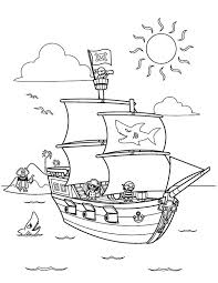 Ship Coloring Pages Coloring Pages Pirate Ship Free Pirate Ship