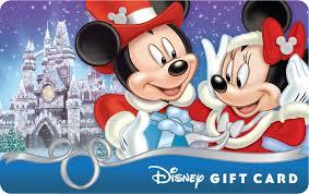 the mickey minnie season s gift disney gift card shows mickey giving minnie