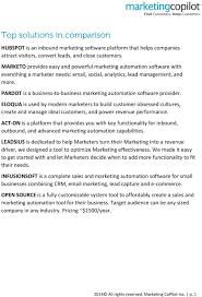 Marketing Automation Comparison Chart We Have Compiled An Extensive Marketing Automation