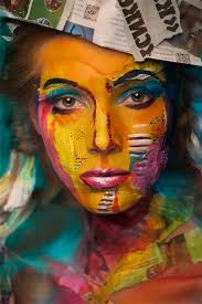random achtergrond titled amazing face paintings transform models into the 2d works of famous artists