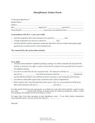 Employee Disciplinary Action Form Mesmerizing Disciplinary Write Up Form Beautiful Of Student Discipline Luxury