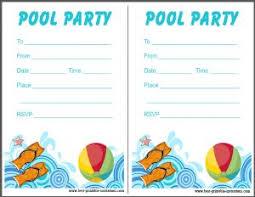 free printable blank pool party invitations. Contemporary Party Free Pool Party Invitation Template To Free Printable Blank Pool Party Invitations O