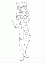 Small Picture Cat Girl Coloring Pages Coloring Pages Coloring Coloring Pages