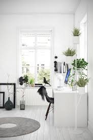 Office Room: Black And White Scandinavian Workspace - Scandinavian Ofiice