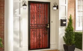 a security door installed in front of an exterior door
