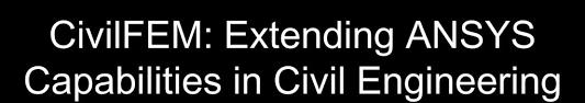 Civilfem Extending Ansys Capabilities In Civil Engineering