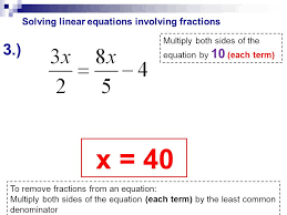 solving linear equations involving fractions