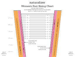Womens Foot Sizing Chart
