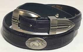 arkansas razorback black crock leather concho belt the stadium pe on razorback