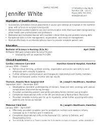 Icu Nurse Resume Samples Entry Level A Good Resume Example