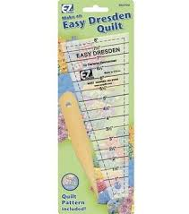 Quilting Rulers | JOANN & Wrights Easy Dresden Quilting Ruler Adamdwight.com