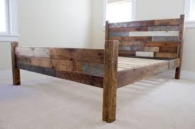 rustic wood bed frame repair