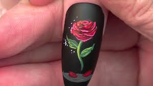 The Enchanted Rose Nails | Beauty and the Beast Nail Art Design ...