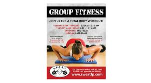 Sweat Fitness & Performance Group Fitness Flyer - Evision Digital