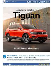 2018 volkswagen order guide. brilliant volkswagen 2018 vw tiguan order guide and volkswagen order guide e