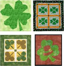 Free pattern day: St. Patrick's Day | Quilt Inspiration | Bloglovin' & Spring Shamrock embroidery by Victoria Findlay Wolfe for Auribuzz Adamdwight.com
