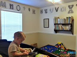 see how i used wooden alphabet letters