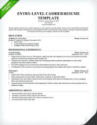 How To List Your Gpa On A Resume Cashier Resume Template Entry Level