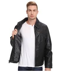 lyst marc new york romney leather jacket in black for men