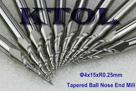 ball nose end mill. aliexpress.com : buy new 4x15mm r0.25 tapered 2 flute ball nose end mill milling bits, solid carbide mills engraving bits for wood 3d deep relief from f