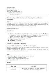 Mba Application Resume Sample Admission Resume Sample Application