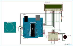 automatic door opener project using pir sensor and arduino automatic door opener circuit diagram