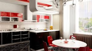 Modern Kitchen Wallpaper White And Red Kitchen Style Hd Wallpaper Download Wallpapers