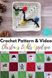 Crochet Christmas Lights Blanket Christmas Lights Applique Free Crochet Pattern Crochet