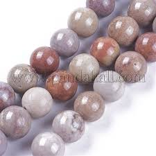 Wholesale <b>Natural Chrysanthemum Stone Beads</b> Strands, Dyed ...