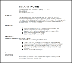 ... Exclusive Design Logistics Coordinator Resume 7 Free Contemporary Logistics  Coordinator Resume Template ...