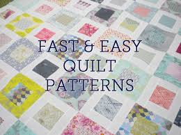 Five Fast Quilting Projects, Patterns & Techniques | Easy quilt ... & EASYQUILTS I'm looking at an adaptable quilt pattern using a