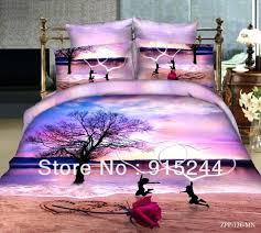 unique duvet covers twin xl romantic hear shape love rose and tree print 4 piece bedding