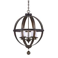 antique iron orb 6 candles chandelier 10993