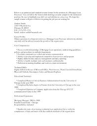 Mortgage Processor Resume Sample Resume For Study