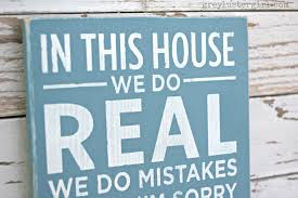family rules sign tutorial diy distressed wood sign