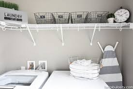diy laundry room shelving storage