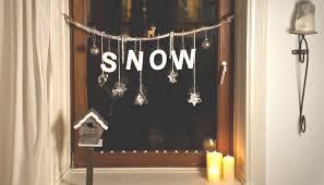 Fensterdeko Mit Schnee Und Hirsch