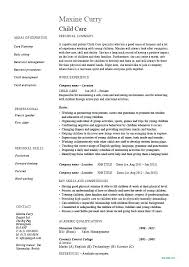 Child Care Resume Template Impressive Babysitting Resume Examples Resume Sample Bank Babysitting Resume