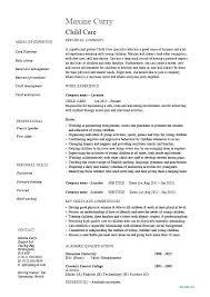 Child Care Resume Template Impressive Babysitting Resume Examples Resume Sample Bank Babysitting Resume