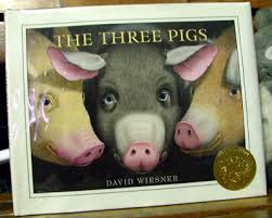 according to the jacket ever since the pigs took to the air at the end of tuesday he wiesner has wanted to give them a book of their own hence the