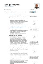 Best Solutions of Investor Relations Resume Sample For Sheets
