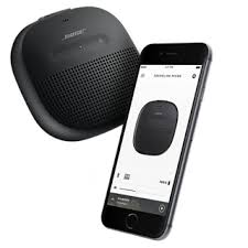 bose micro. use the app to connect two soundlink micro speakers in party mode. or switch stereo instruments and vocals will naturally separate\u2014making your bose n