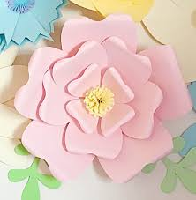 Pattern For Paper Flower Giant Paper Flower Wall Decor 16 Steps With Pictures