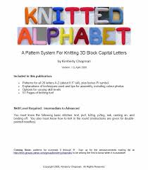 Alphabet Knitting Chart Free Knitting Patterns 3d Alphabet Kimberly Chapmans Knitting